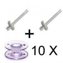 2 X Garnstandard mit Spulen speziell für die Toyota RS 2000 Serie